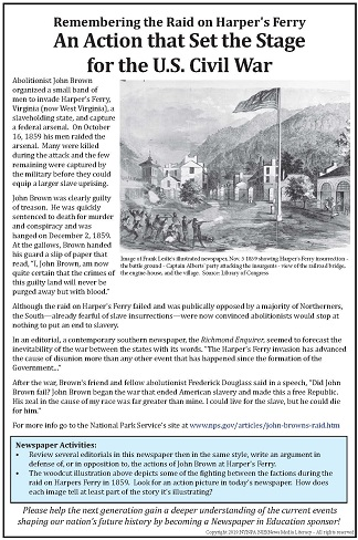 Anniversary of the Attack at Harper's Ferry