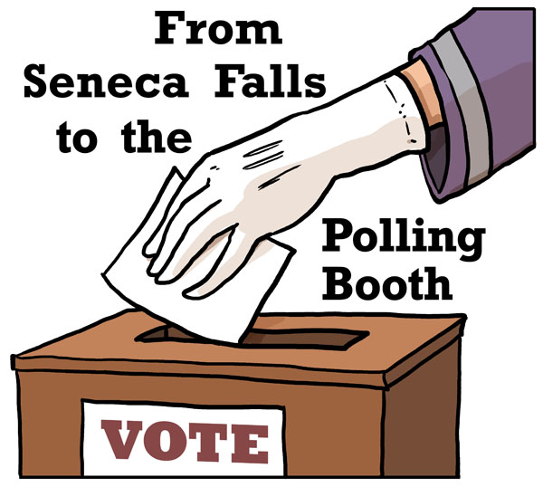 Seneca Fall to Polling Booth Logo